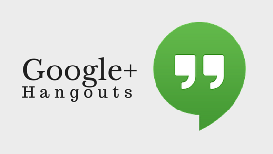 Google Hangouts, a video group chat