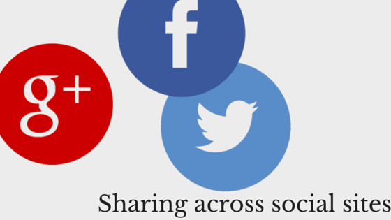 Sharing across other social sites